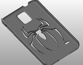 3D printable model Galaxy S5 with Spiderman Logo