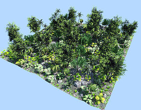 3D model deep jungle scene