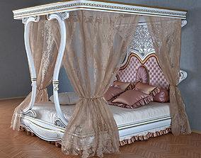 3D model Bed NAPOLEONE LACCATA factory ANTONELLI MORAVIO