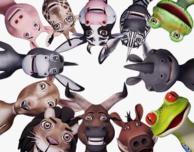 3D PBR Toon Humanoid Animals Ultimate Vol 1