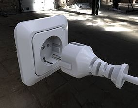 3D 220V Electric Power Plug Socket Europe plus Multiplug