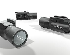 Surefire X300U-B Weapon Mounted Light 3D asset