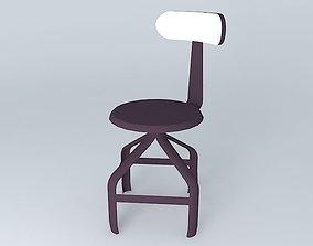 Black chair TELEGRAPHE Maisons du monde 3D model