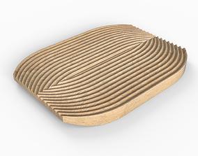 Low-poly Wooden Trivet 3D asset realtime