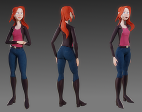 3D model Fully rigged character for Blender