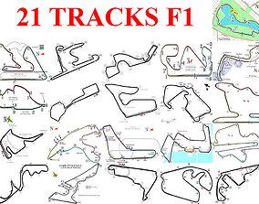 3D asset Track Pack F1 2017 2018
