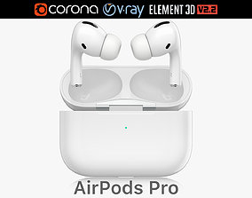 Apple AirPods Pro 3D model audio