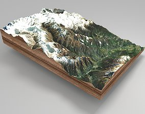 Mountain landscape snow 3D model