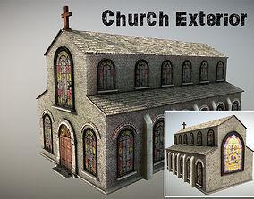 3D model game-ready Church