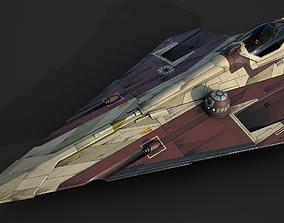 3D asset Star Wars Jedi Starfighter-AOTC-Obi Wan