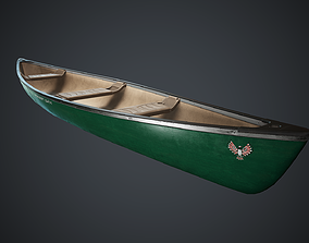 Canoe 1 PBR Game Ready 3D model