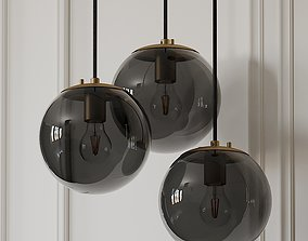 3D Wysocki 1-Light Single Globe Pendant by Mercury Row