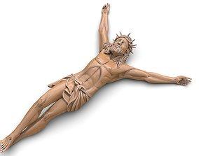 3D printable model Jesus pendant jewelry cross pray