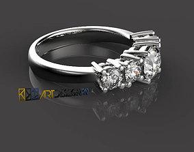 Anello Riviera - Diamonds ring 3D printable model