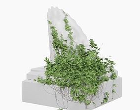 Ruin Corinthian column 3D model
