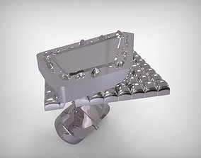 3D printable model Accsessories Silver Shirt Sleeve Cuffs
