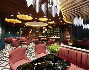 Restaurant scene corona render 3D