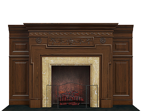3D model Classic fireplace 06