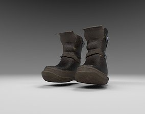 Fuse Asset - Strappy Boots low-poly