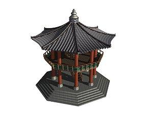 outdoor 3D model Korea Dancheong Palgakjeong