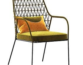 panarea lounge chair 3D model
