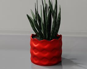 3D print model plant pot holder 95