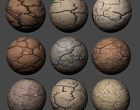 3D Ground Cracked Mud Pack