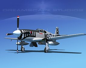 3D model North American P-51B Mustang V03
