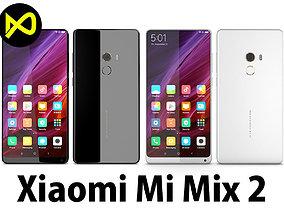 3D Xiaomi Mi Mix 2 Black And White