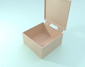 Printable box with hinges - one part only