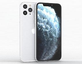 3D asset Apple iPhone 11 Pro Silver
