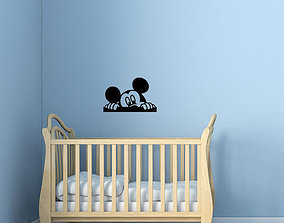 3D print model Mickey Kids and baby room wall art 2