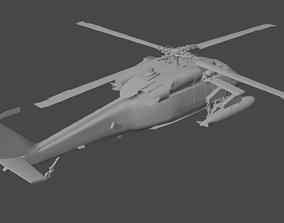 3D black UH-60 Black Hawk