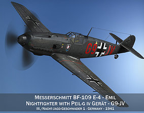 3D Messerschmitt - BF-109 E - G9-JV - Nightfighter