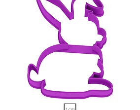 Bunny 5 cookie cutter for professional 3D printable model