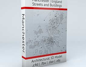 Manchester Streets and Buildings 3D