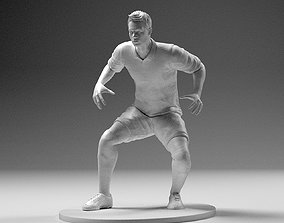 Footballer 02 Goalkeeper Pose 01 Stl 3D print model