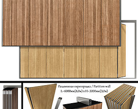 3D Sliding Partition made of wood