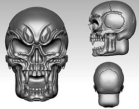 skull 3D printable model jewelry