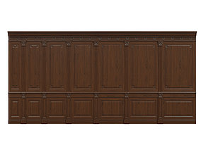 Threaded wood panels 012 3D model