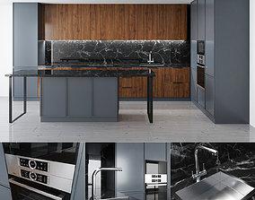 interior 3D model Kitchen Set 1