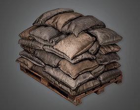 MLT - Military Sandbag Stack 01 - PBR Game Ready 3D asset