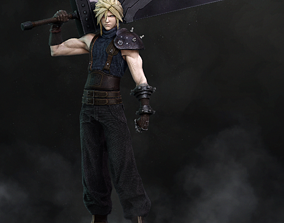 Cloud Strife from Final fantasy 7 3D printable model