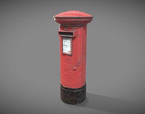 UK post box PBR 3D asset