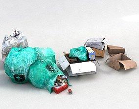 rubbish waste garbage trash crap junk 3D asset