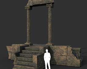 Low poly Ancient Roman Ruin Construction 06 - 3D asset 1
