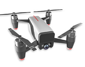camera 3D asset The Next DJI SPARK drone