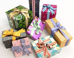 3D Gift boxes with bows part 1
