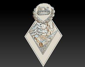3D print model Badge Nature Forest