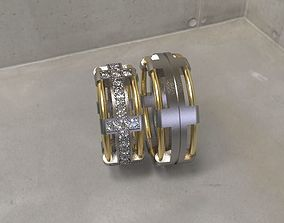 3D printable model rings diamond wedding ring